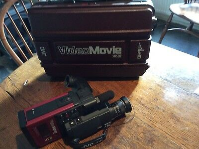 Early 1980's JVC Video Movie VHSC Camera In Original Case. Repair or spares.