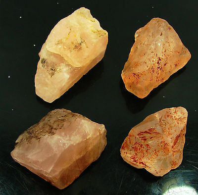 350.00 Ct Natural Rose Quartz  Loose Gemstone Rough Specimen Lot of 4 Pcs- 9810