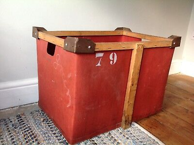Vintage Industrial Laundry Crates-Boxes-Display-Storage £30 per box 6 available