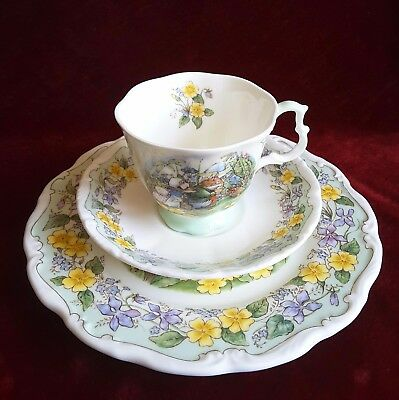 """Brambly Hedge Royal Doulton, """"The Outing"""" , 3-teilig, TOP Zustand !"""