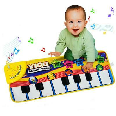 Musical Music Kid Piano Play Baby Mat Animal Educational Soft Kick Fun Toys Gift