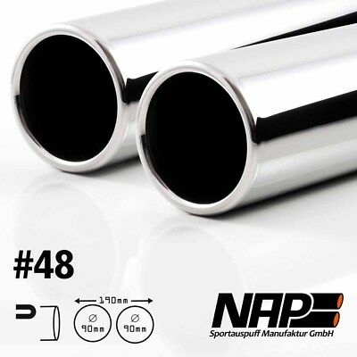 NAP weld-on end pipe 0 1/16x3 1/2in rolled edge with ABE Stainless steel
