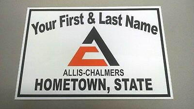 Personalized Allis-Chalmers (Big-A) Tractor Aluminum Name Sign