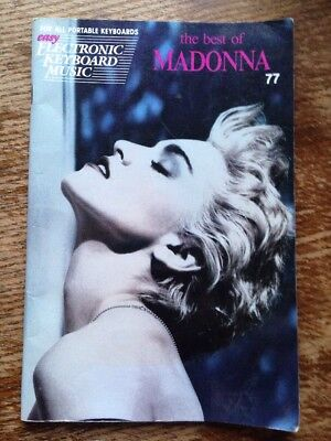 The Best Of Madonna Easy Electronic Keyboard Music Book
