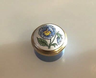 CRUMMLES Blue Flower Small Pill Box