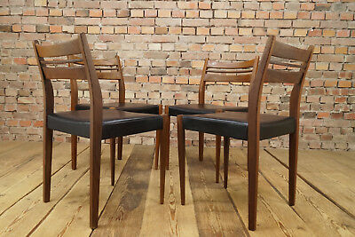 60er 4 x Dining Room Chairs Mid-Century Danish Modern Chair Dining Chairs 60s