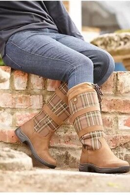Dublin Plaid River Boots Size 8 Brand New In Box