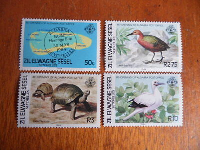 nickstampshop ~ Zil Ewagne Sesel 1984 ~ Re-Opening Of Aldabra P/O ~ Cpte MH Set
