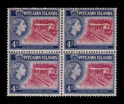 Pitcairn Islands 1958 QEII Sc# 31 MNH Block of 4