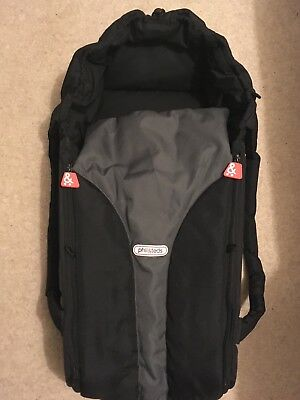 Black Phil and Teds Cocoon baby carrycot & buggy bed. Very good condition