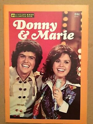 Vintage Donny & Marie Osmond A Golden All Star Book Comic Illustrated 1977