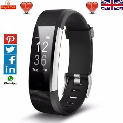 VeryFit ID115HRPlus Alta FitBit Style Fitness Tracker Watch Heart Rate Step