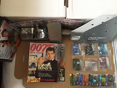 James Bond Spy Files Movie Cards & Magazines Complete Set + Tins + Chase