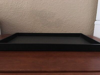 "Black Cardboard Jewelry Trays (Set Of 13) 14.75"" X 8.25"" X 1"""