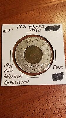 1901 Pan American Expo Encased Cent 1901 Indian Head Cent Doubled Reverse