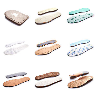 Shoes Insoles Unisex Wool Sheepskin Leather Felt Coconut Active Carbon Thermal N