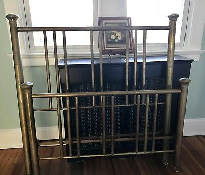 Antique Brass Bed Frame And Rails Full Size