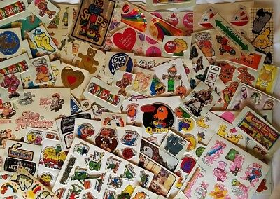 Vtg HUGE Lot Wacky Pack Scratch Sniff Puffy Foil Pacman Frogger 70s 80s STICKERS