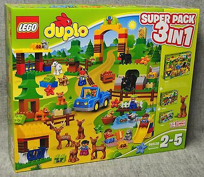 Lego 66538 Wildpark Super Pack 3in1 - (10584 + 10582 + 10581) Duplo Neu