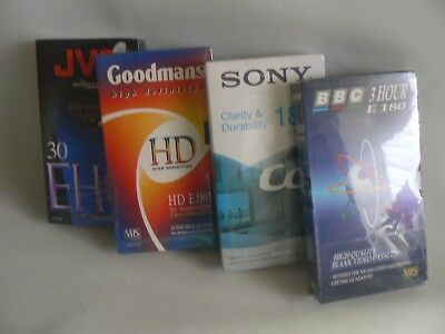 SONY BBC  JVC  GOODMNS VHS Video Tapes  X 4 NEW SEALED