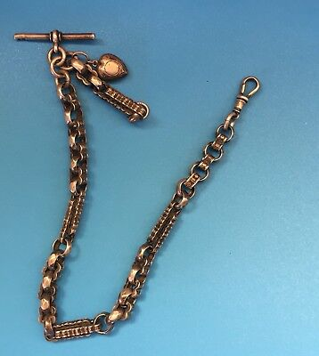 Antique Solid Silver Pocket Watch Fob Chain 41g
