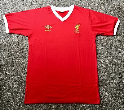 Liverpool Retro 1976-1979 Home Shirt Red New ALL SIZES/SLEEVES