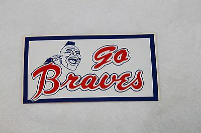 "Atlanta Braves  MLB Vintage Bumper Stickers stickers 6"" x 3 1/4""  Lot of 2"