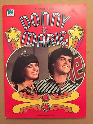 Donny & Marie Osmond - A Color Book (Coloring Book with Paper Dolls) 1977