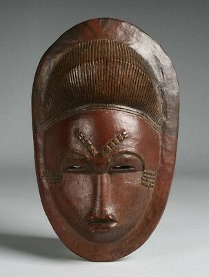 Antique African Baule Mask - Ivory Coast - Early 20th Century