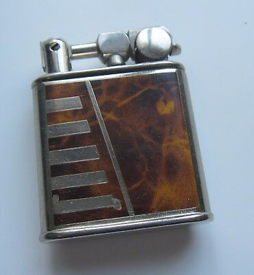 Vintage French  Lift Arm Art Deco lacquer Petrol lighter