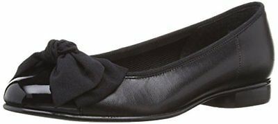 (TG. 39 (5.5 uk)) Nero (Black (Black Leather/Patent)) Gabor - Ballerine, Donna,