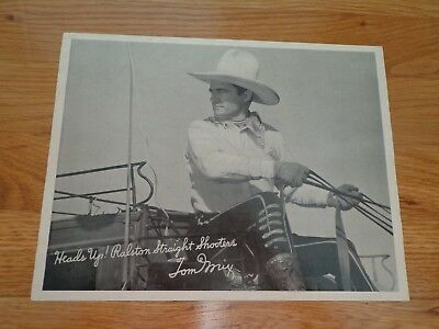 Tom Mix 8 x 10 picture, Ralston Wheat Cereal