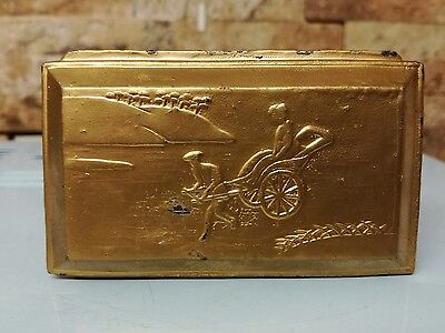 Antique Chinese Gold & Wooden box