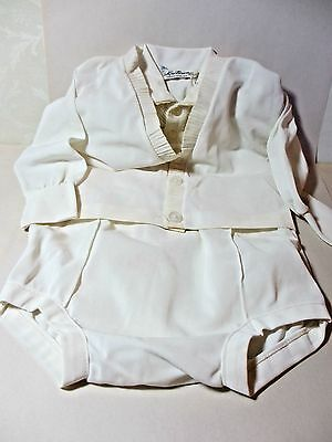 Vintage Christening Suit by Knitown Size 12 Month Short Pants Long Sleeve Jacket