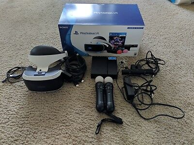 Sony PlayStation VR - psvr - headset & camera & two move controller