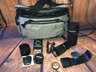 CAMERA Vantage Bag,SUN BLITZ 100,  Tomaron Mc Tele Converter, Soligor 80-200mm,