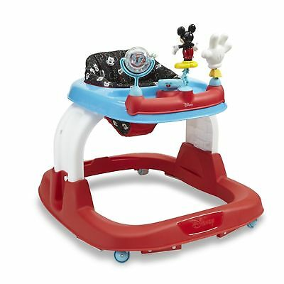 New Disney Mickey Mouse Baby Walker Height Adjustable Baby Kid Toddler Infant