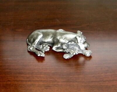 Great Dane Pewter Sculpture from the Virginia Perry Gardiner Collection,Must See
