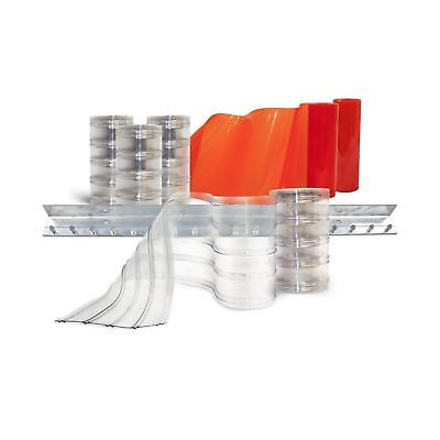 Aleco 440056 Clear-Flex II Standard Scratch-Guard Ribbed Strip Door Kit with ...