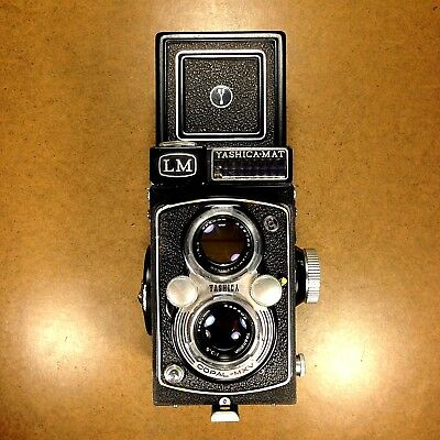 FILM TESTED/NICE Yashica Mat LM 6x6 TLR Camera/Meter OK/80mm Yashinon Lens