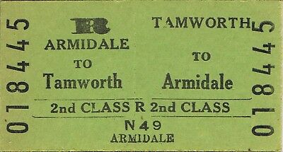 Railway ticket a trip from Tamworth to Armidale by the old NSWGR