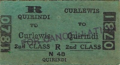 Railway ticket a trip from Curlewis to Quirindi by the old NSWGR