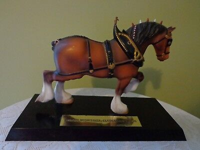 BUDWEISER Clydesdale Horse mounted on stand