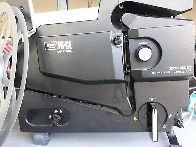 16mm Elmo Projector -- Model 16CL (Channel Loading)