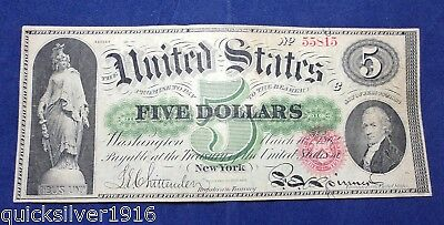 Act of 1862 $5 U.S Bank Note (American Bank Note Co. New York) Series 40