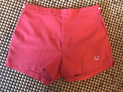 Vintage Fred Perry Men's Tennis Shorts Red EUC Size 36