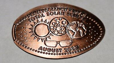 2017 Total Solar Eclipse Elongated Pressed Penny Zinc