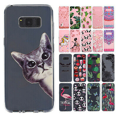 For Samsung Galaxy Phone/Note 8/S8+ Shockproof Clear Cute Rubber Soft Case Cover