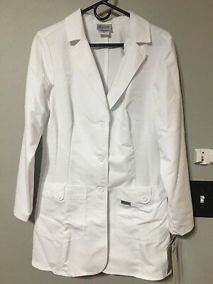 NWT Grey's Anatomy 2 Pocket Fitted White Coat Women's