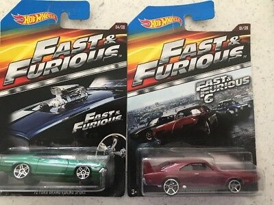 Fast And Furious Hot Wheels Cars